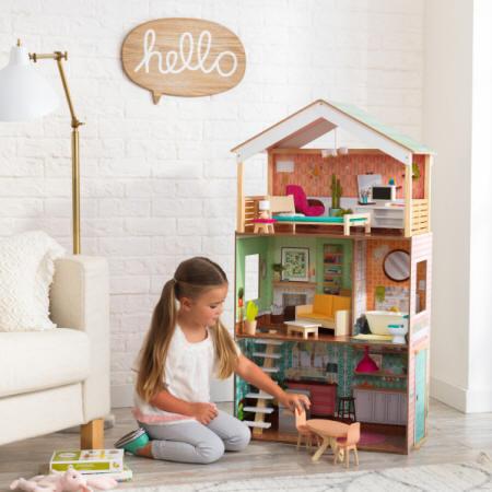 Kidkraft casa dottie 65965 con niña jugando
