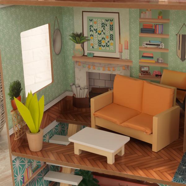 Detalle estancia salón de kidkraft casa dottie 65965
