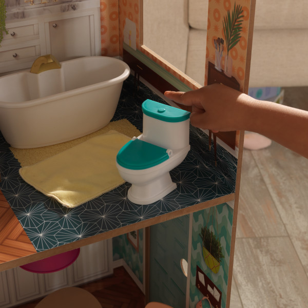 Detalle baño de kidkraft casa dotttie 65965