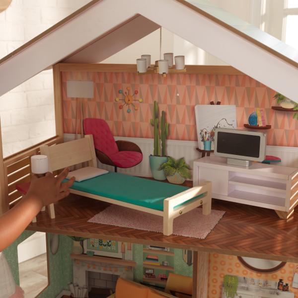 Detalle dormitorio de kidkraft casa dottie 65965