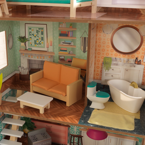 Detalle de varias estancias de kidkraft casa dottie 65965 width=