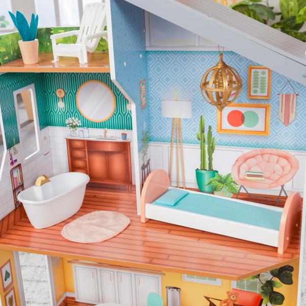 kidkraft casa de muñecas Emily 65988 - habitacion y baño