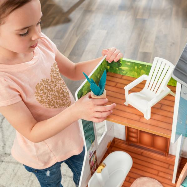 kidkraft casa de muñecas Emily 65988 - porche