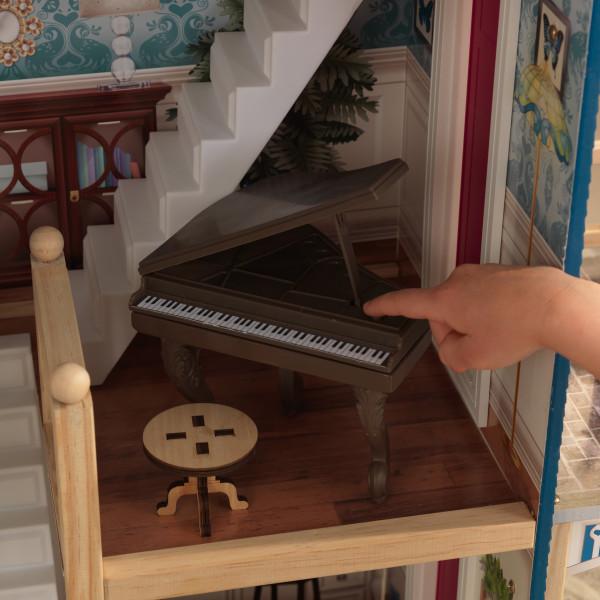 Detalle piano con silla de kidkraft casa gran aniversario 65947 width=