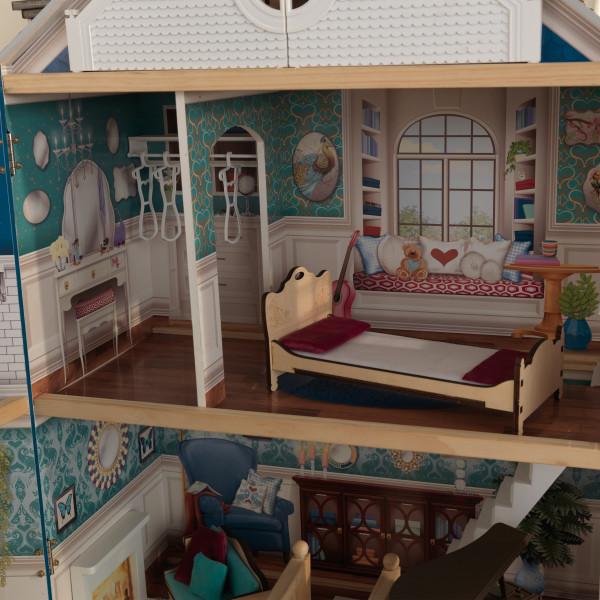 Detalle dormitorio y vestidor de kidkraft casa gran aniversario 65947 width=