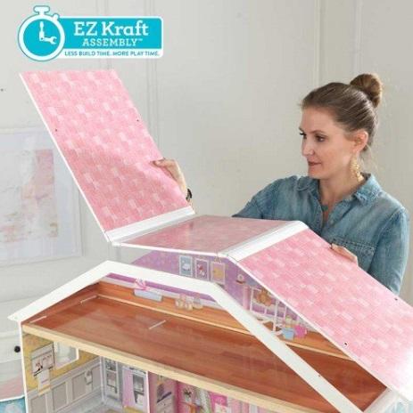 Detalle del techo de la casa de muñecas kidkraft gran mansion con vistas 65954 width=