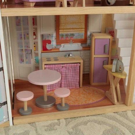 Detalle de la cocina de kidkraft casa de muñecas gran mansion con vistas 65954 width=