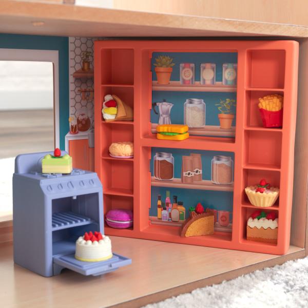 Kidkraft Casa De Muñecas Hazel 65990 - vista estanteria y horno cocina