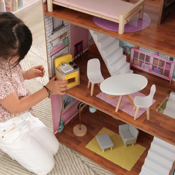 Detalle del salón de la Kidkraft Casa Juliette 65969 width=