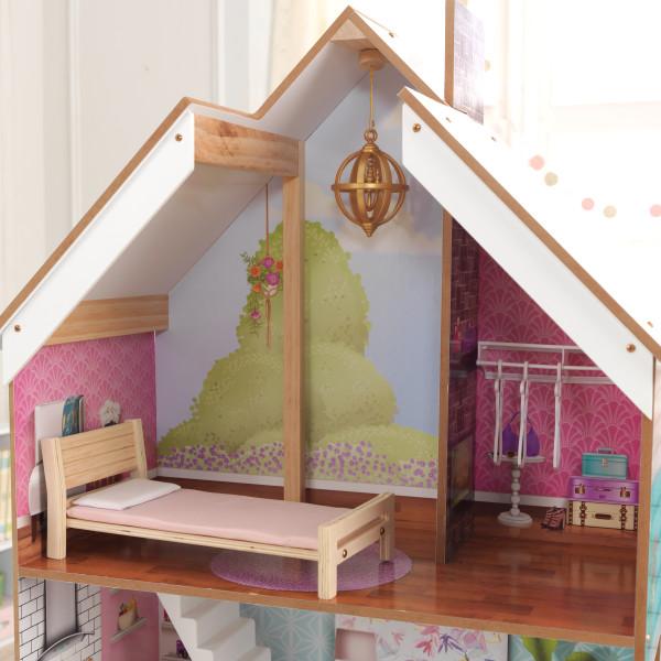 Detalle del dormitorio superior de la Kidkraft Casa Juliette 65969 width=