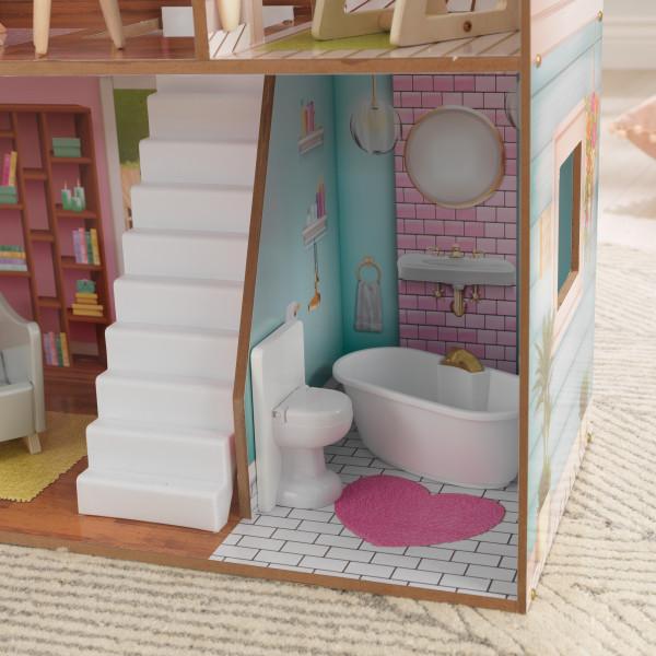 Detalle del baño de la Kidkraft Casa Juliette 65969