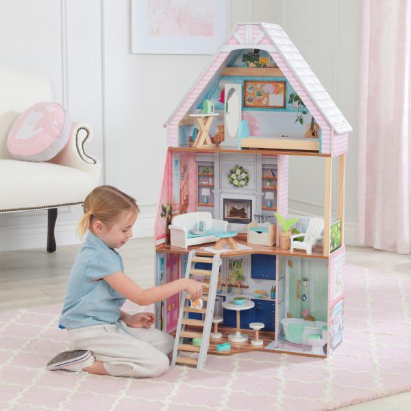 kidkraft casa de muñecas Matilda 65983 - vista con niña