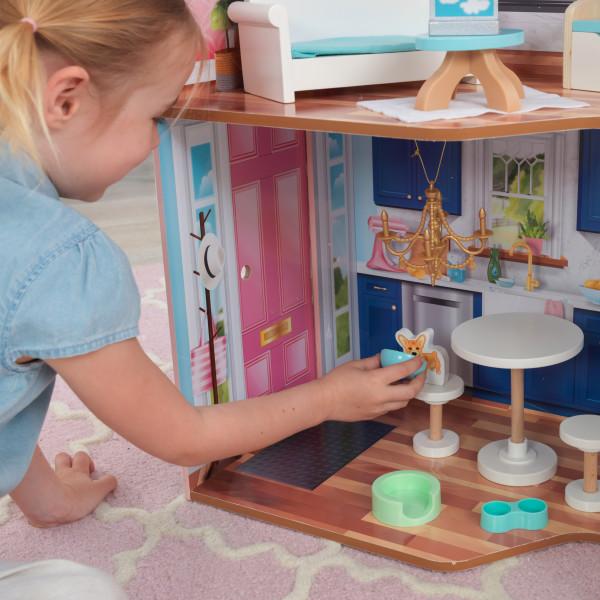 kidkraft casa de muñecas Matilda 65983 - cocina con mascota