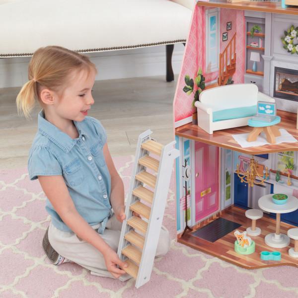 kidkraft casa de muñecas Matilda 65983 - escalera movil