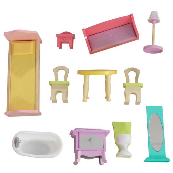 Todos los accesorios de la Kidkraft casa de muñecas poppy 65959