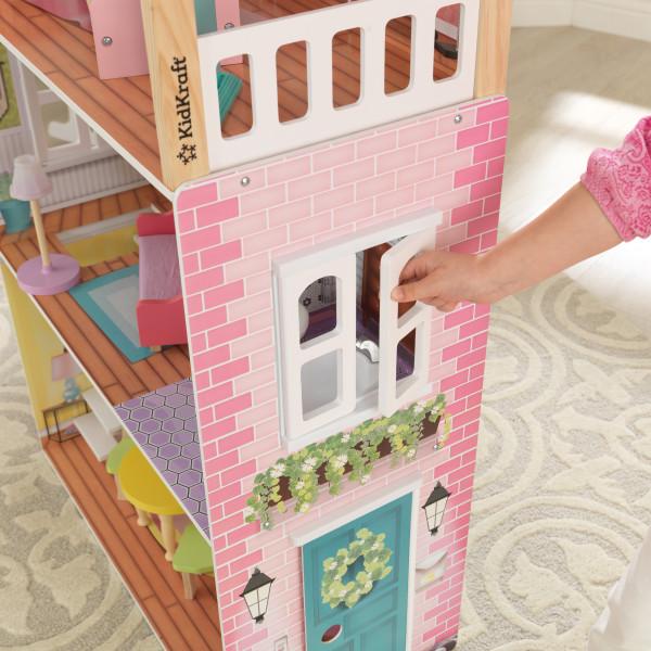 Detalle de ventana de la casa kidkraft de muñecas poppy 65959