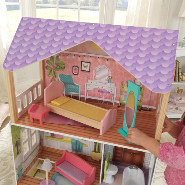 Detalle de habitación de la casa kidkraft de muñecas poppy 65959