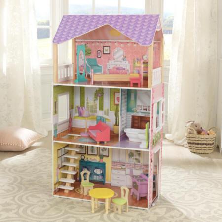 Imagen de la casa kidkraft de muñecas poppy 65959 con todos su accesorios