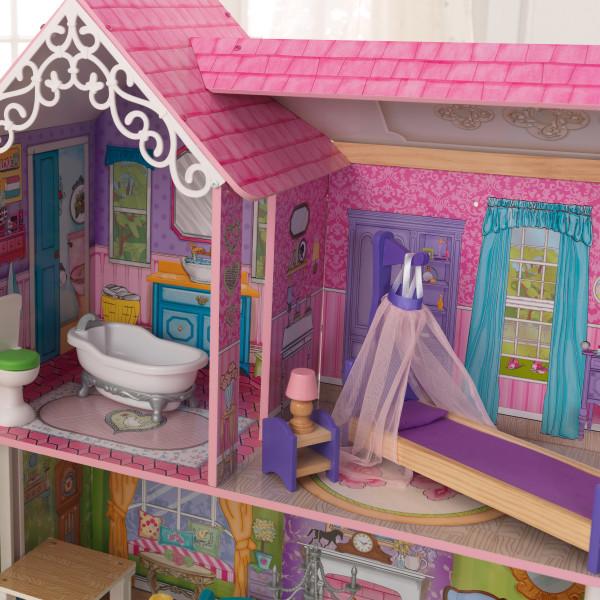 kidkraft casa de muñecas Veronica 65968 - habitacion y baño