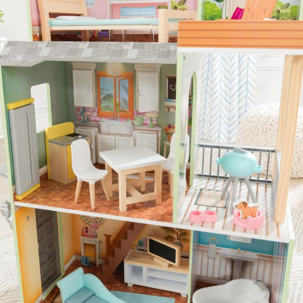 kidkraft casa de muñecas Hallie 65980 - cocina y barbacoa