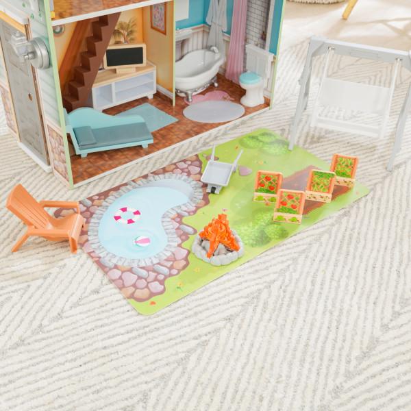 kidkraft casa de muñecas Hallie 65980 - huerto