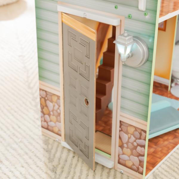 kidkraft casa de muñecas Hallie 65980 - puerta funcional