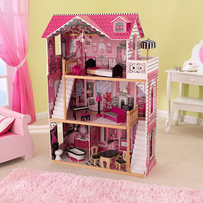 kidkraft casa de muñecas 65109 amelia - 2 escaleras width=