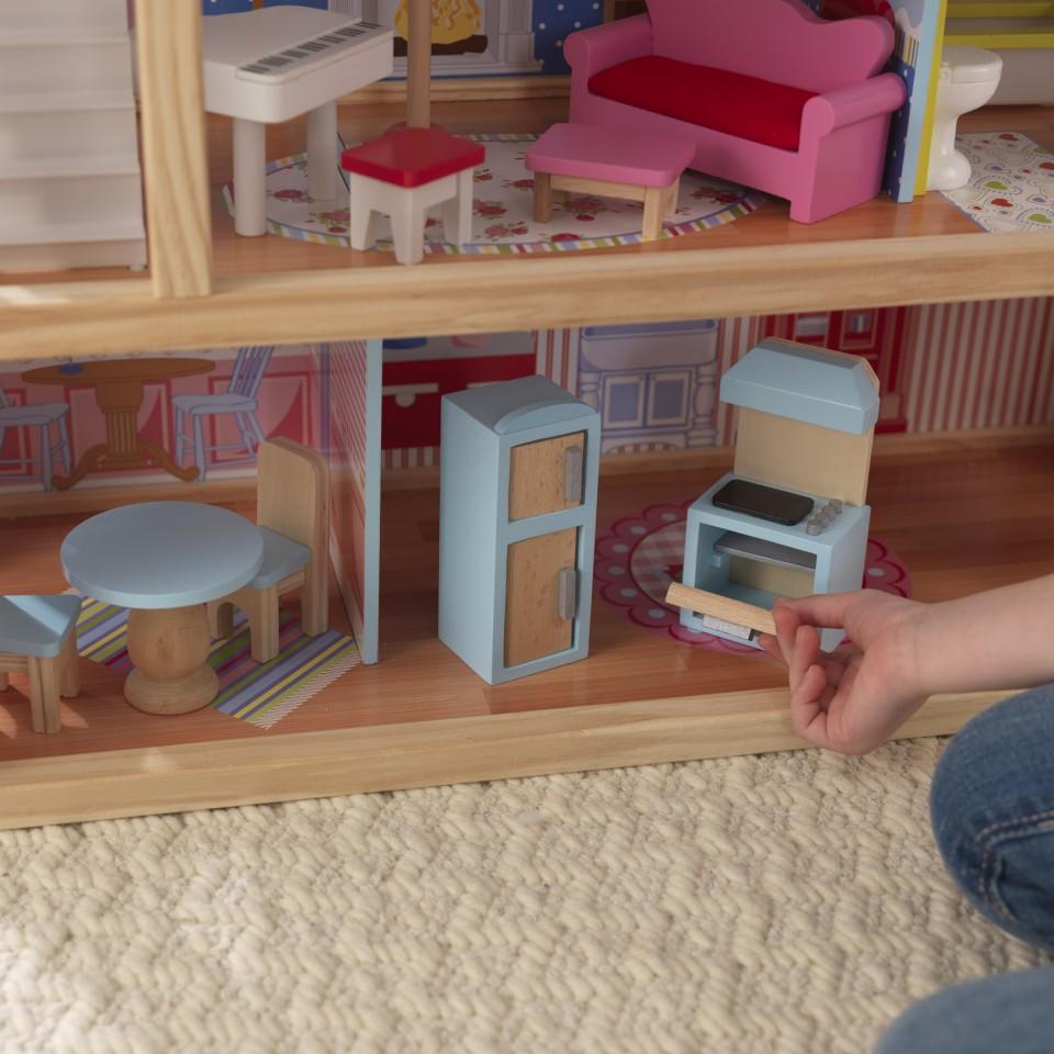 Detalle estancias cocina casa de muñecas Chelsea 65054 Kidkraft