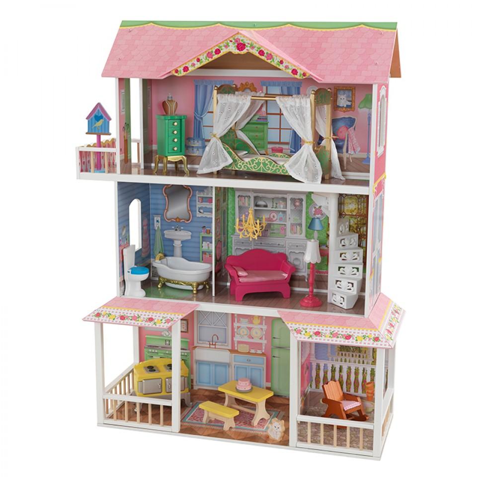 Imagen donde se aprecian todos los detalles de Kidkraft casa de muñecas dulce savannah 65935 width=