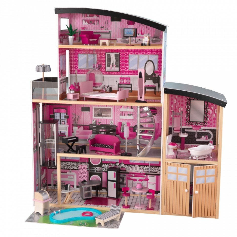 kidkraft casa de muñecas estilo mansion de lujo 65826 width=
