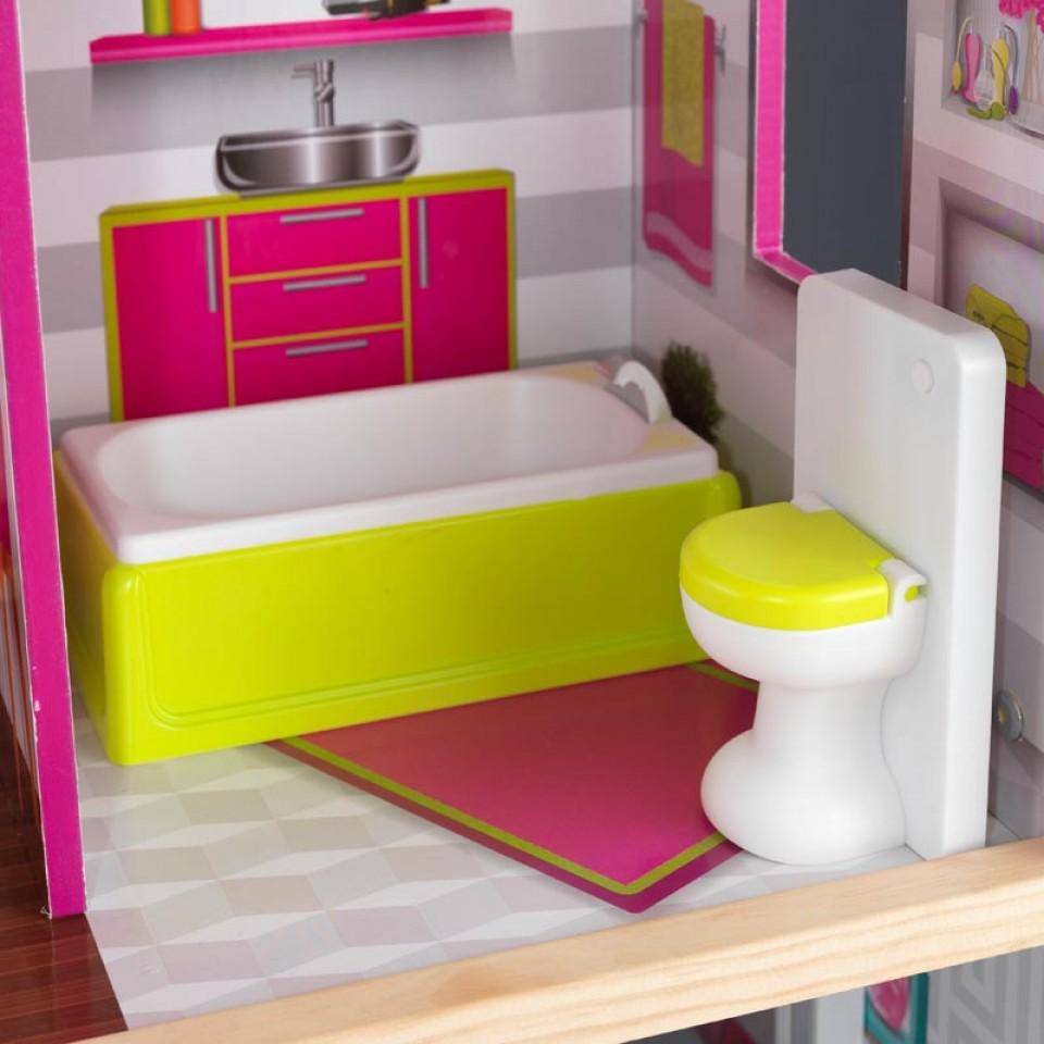 Detalle del baño de Kidkraft casa de muñecas luxury 65871