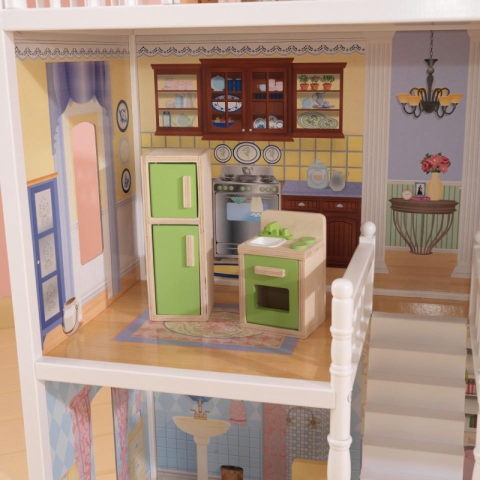 Detalle de la cocina de kidkraft casa de muñecas savannah 65023 width=