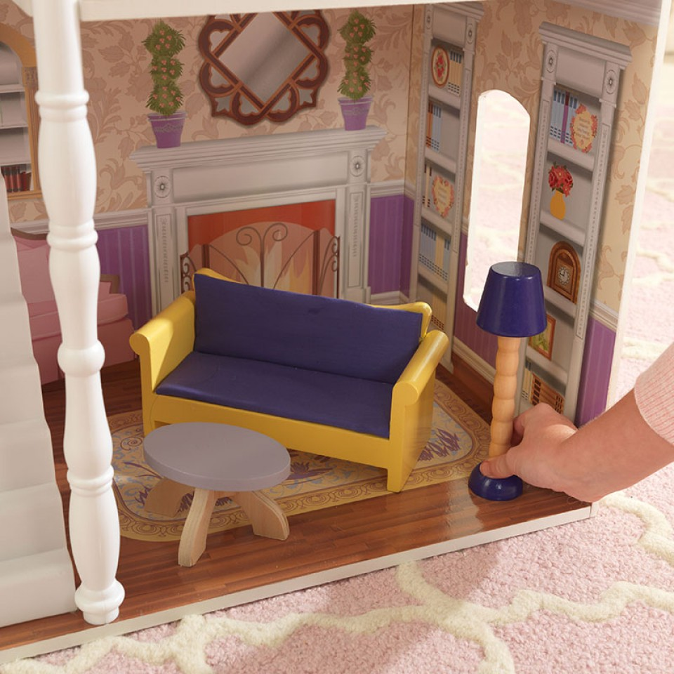 Detalle del salón de kidkraft casa de muñecas savannah 65023 width=