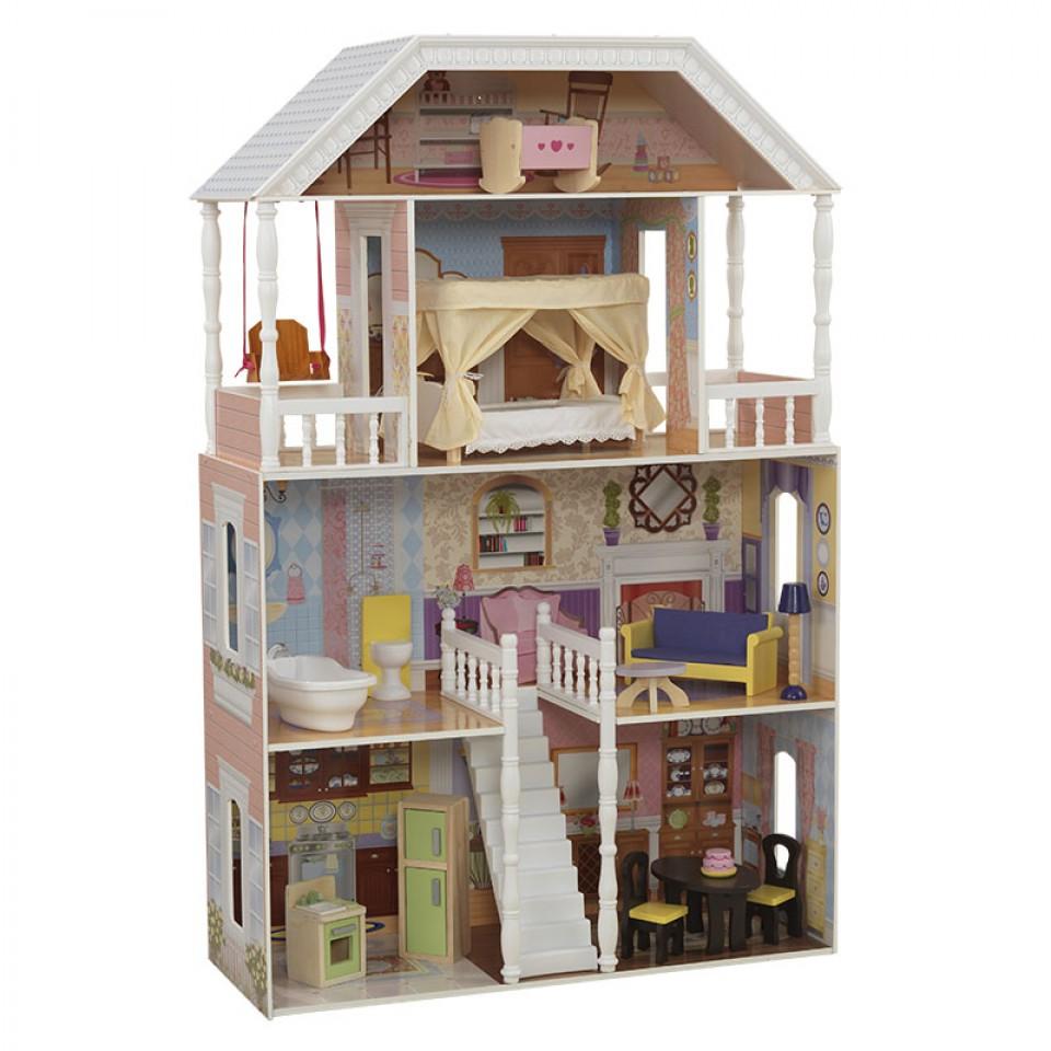 Imagen con todos sus accesorios de kidkraft casa de muñecas savannah 65023 width=