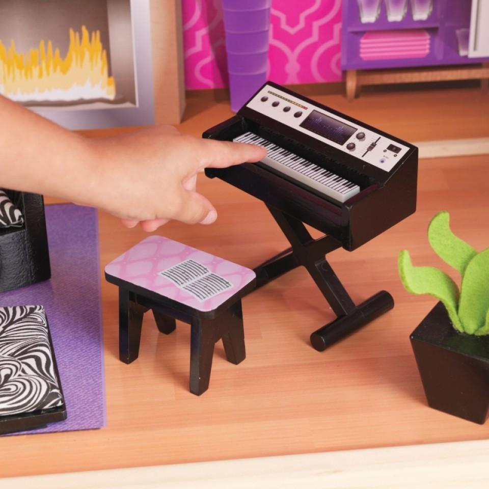 Detalle del piano de Kidkraft Casa De Muñecas Uptown 65833