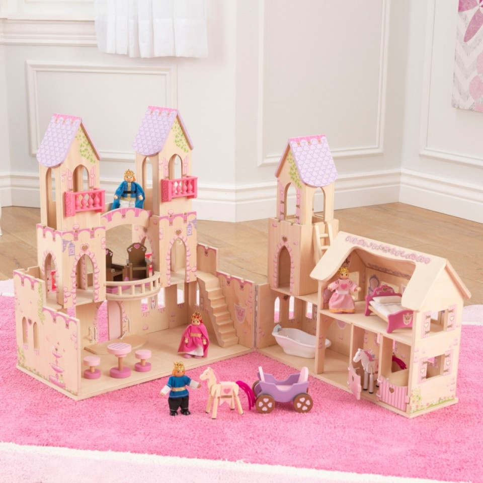 Castillo de princesas 65259 kidkraft desplegado width=