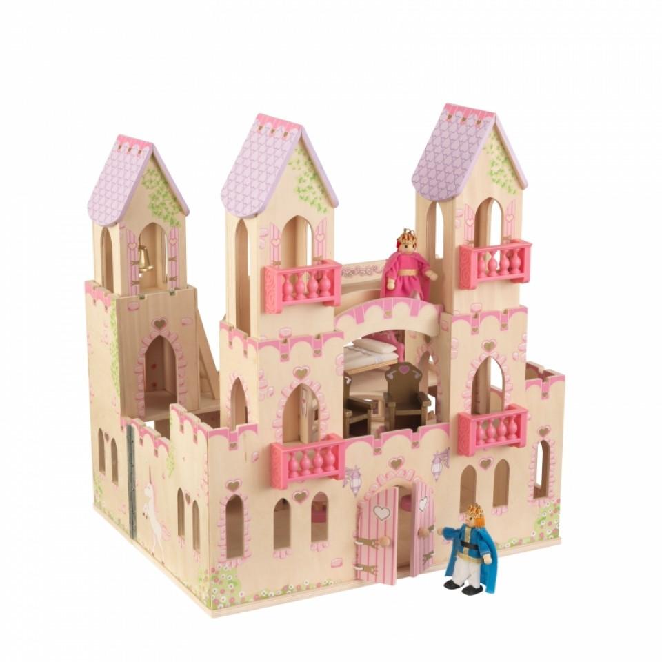 Castillo de princesas 65259 kidkraft con princesa y principe width=