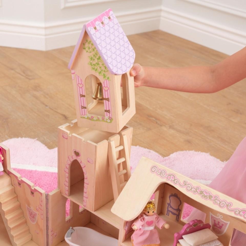 Detalle torre del castillo de princesas 65259 kidkraft width=