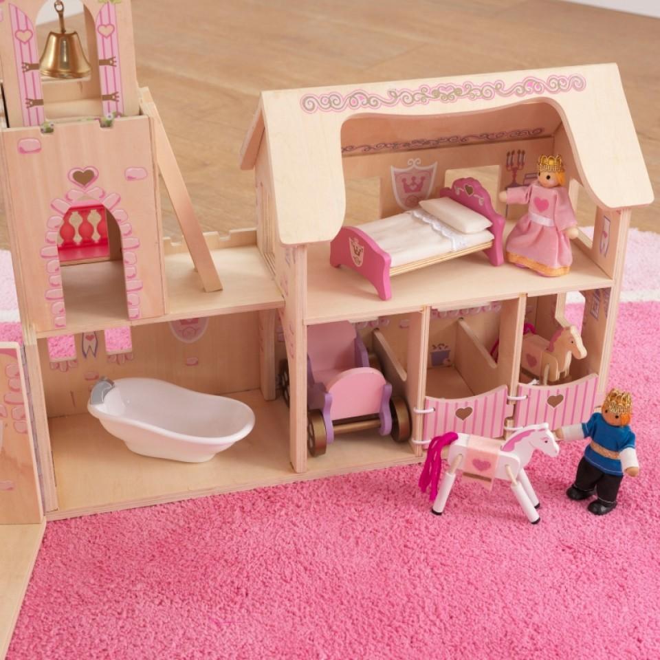 Detalle interior habitaciones castillo de princesas 65259 kidkraft width=