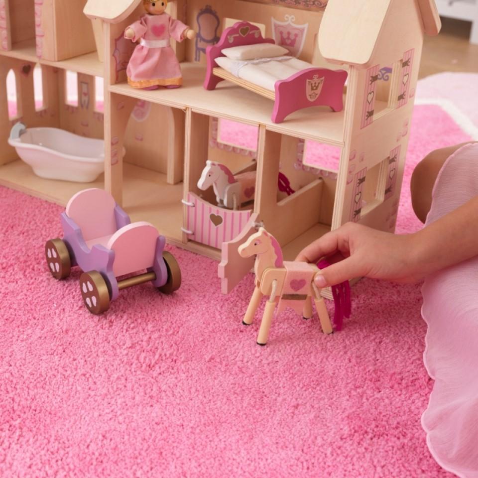 Detalle dormitorios castillo de princesas 65259 kidkraft width=