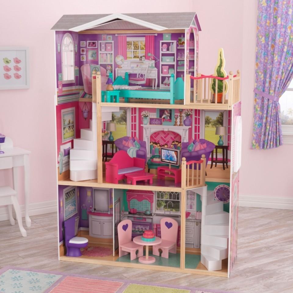 kidkraft elegante mansion para muñecas de 46 cm 65830 width=