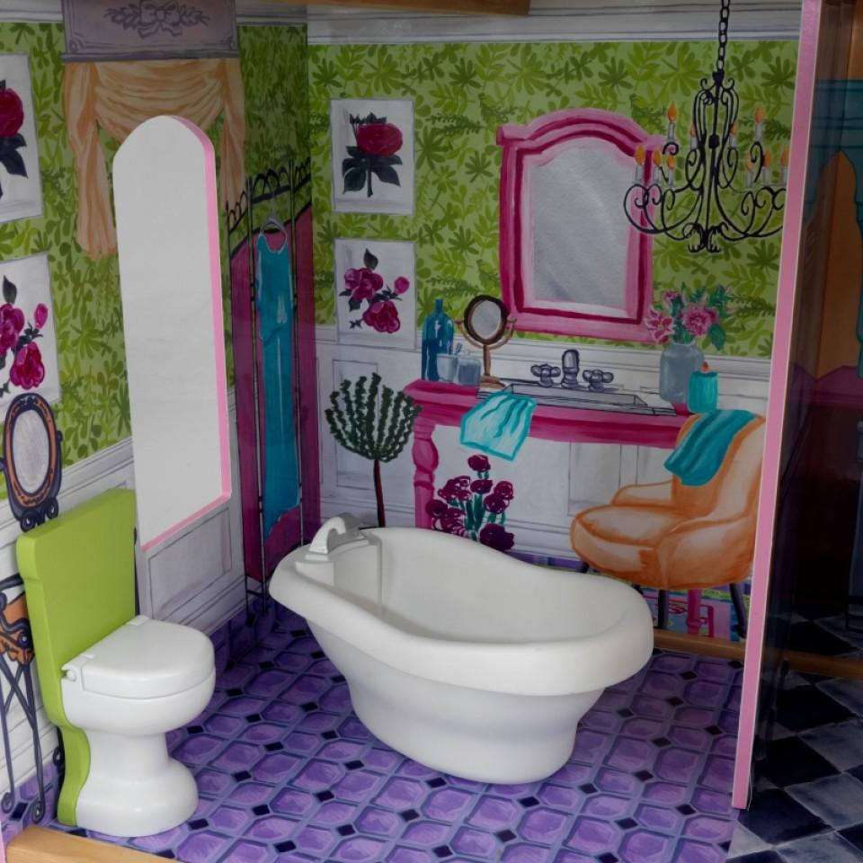 Detalle del baño de kidkraft la mansion de mis sueños 65082 width=