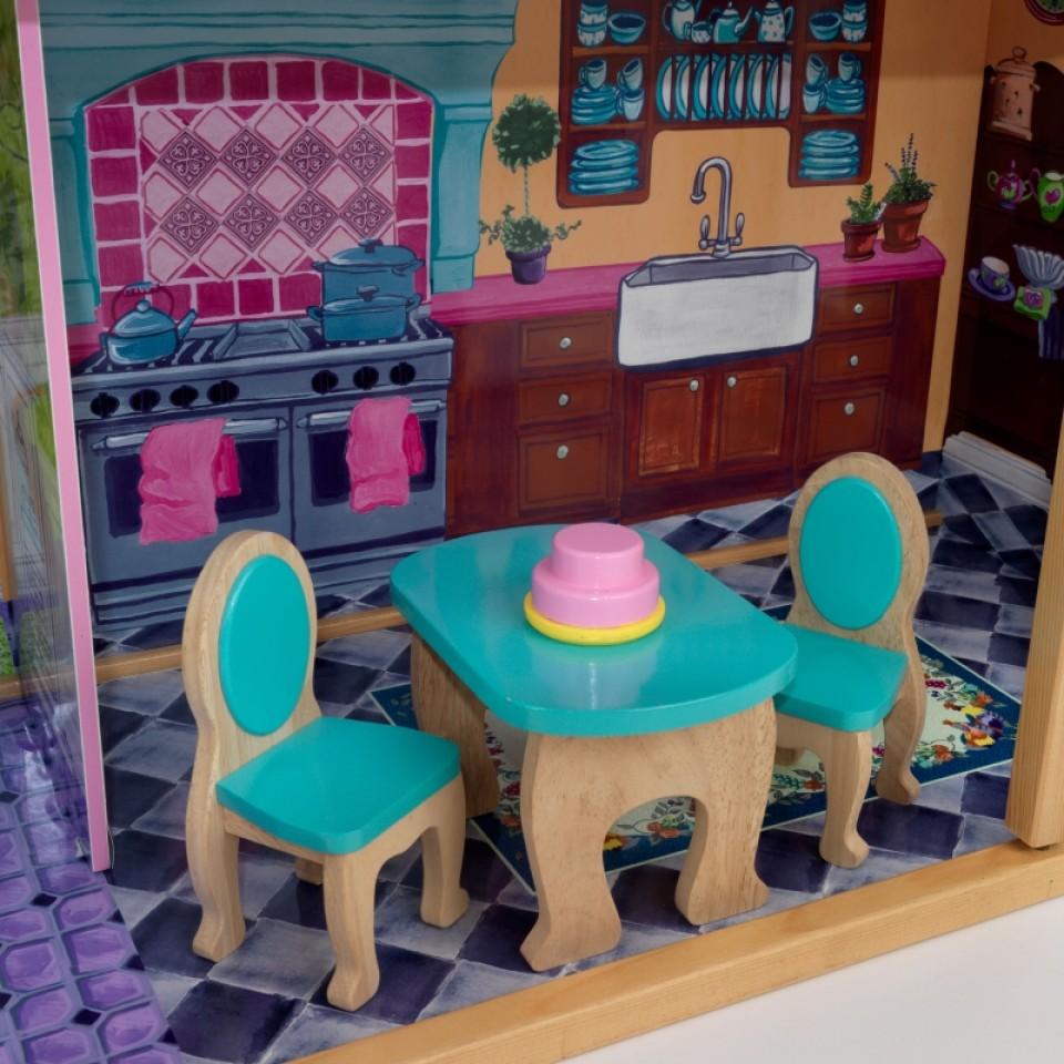 Detalle de mesa y sillas de kidkraft la mansion de mis sueños 65082 width=