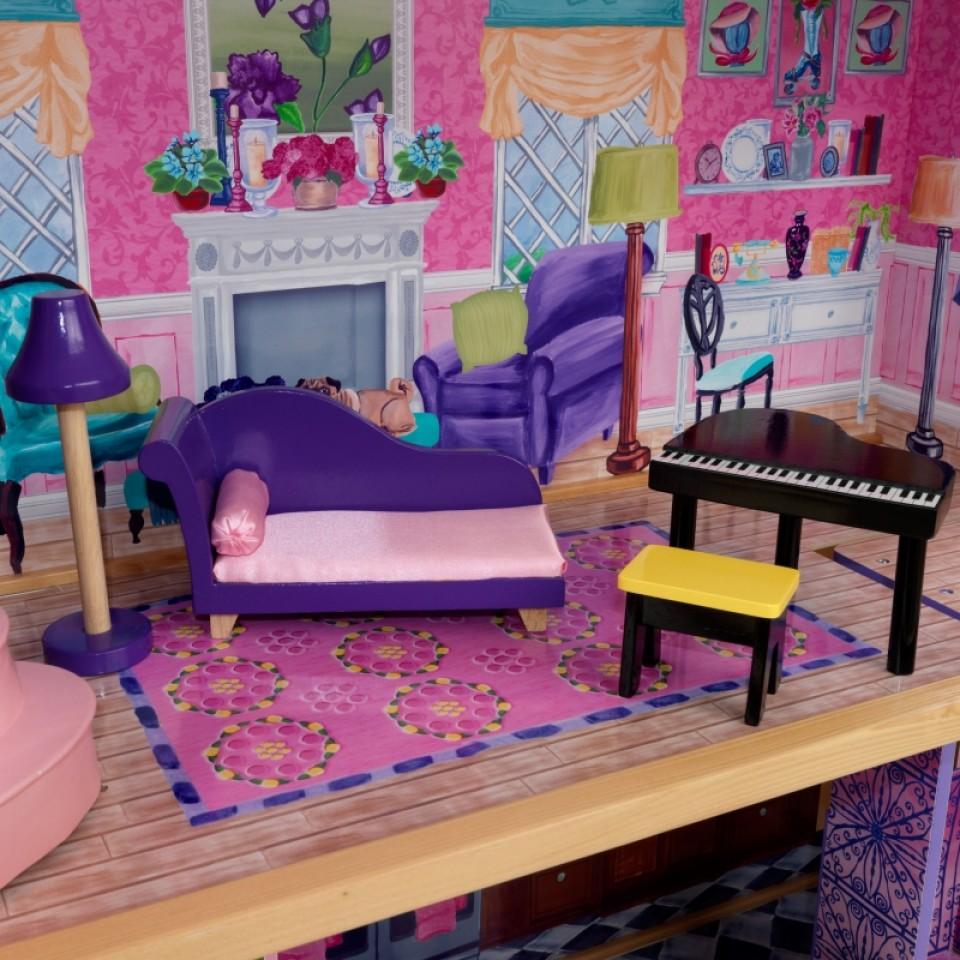 Detalle de varios accesorios de kidkraft la mansion de mis sueños 65082 width=
