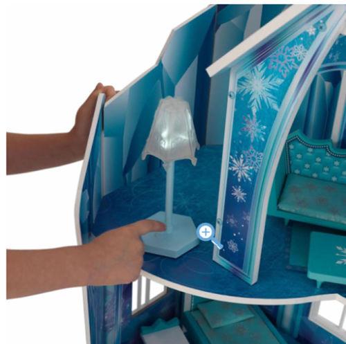 Detalle de lámpara con luz de kidkraft 65880 mansion copo de nieve - frozen width=