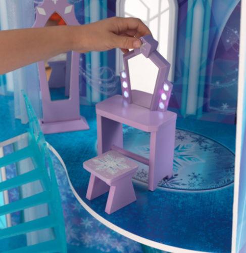 Detalle silla y tocador de kidkraft 65880 mansion copo de nieve - frozen width=