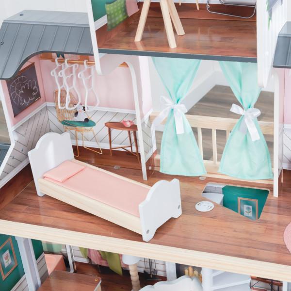 Kidkraft Casa De Muñecas Mansion Celeste 65979 - dormitorio