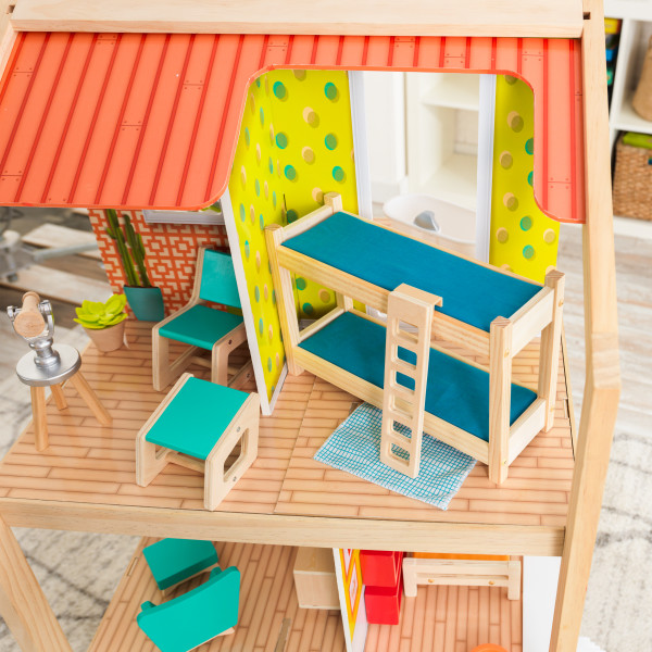 Detalle literas dormitorio de kidkraft mansion so stylish 65199 width=