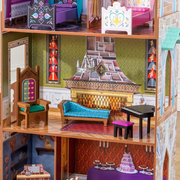 Detalle del salón de kidkraft palacio de arendelle de frozen 65945