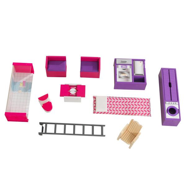 Imagen de los accesorios de la casa de muñecas kidkraft 65948 teeny house width=